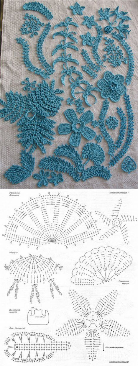 Mejores 63 imágenes de crochet irlandés en Pinterest | Crochet ...
