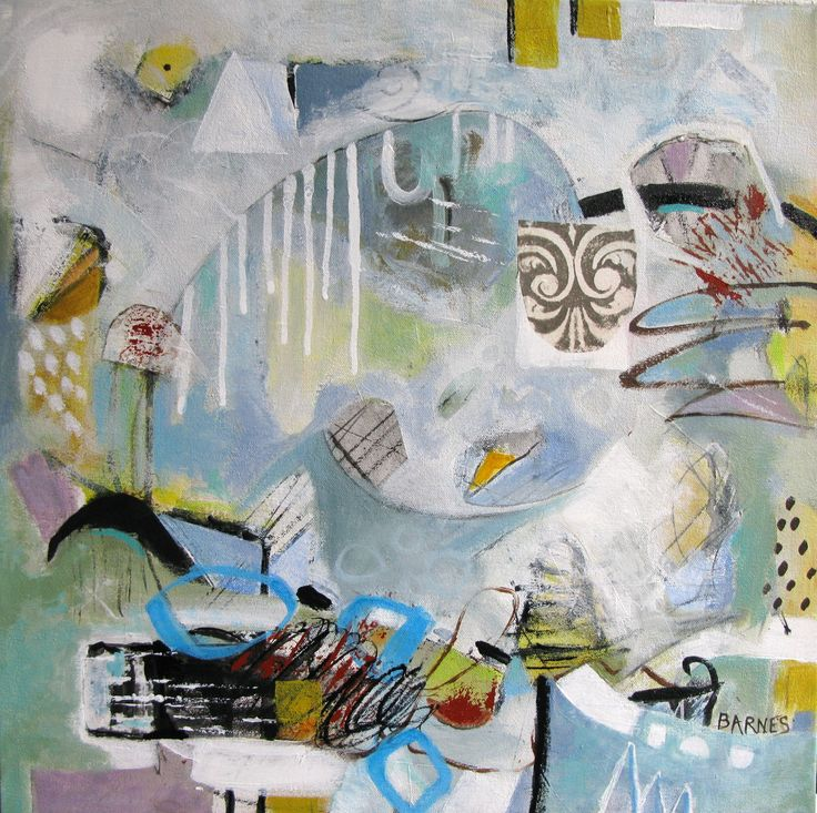 Whirlwind  SOLD Mixed Media on canvas Francoise Barnes