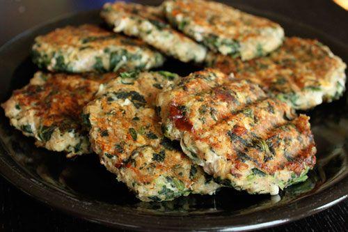 Spinach Feta Turkey Burgers | GreenLiteBites