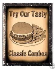 HAMBURGER fast food VINTAGE SIGN RETRO RESTAURANT art