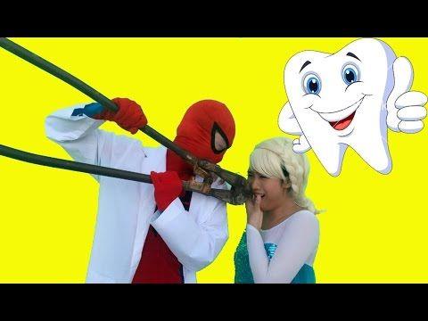 Frozen Elsa & Spiderman GO TO SCHOOL! w/ Maleficent Pink Spidergirl Joker Candy! Funny Superheroes - YouTube