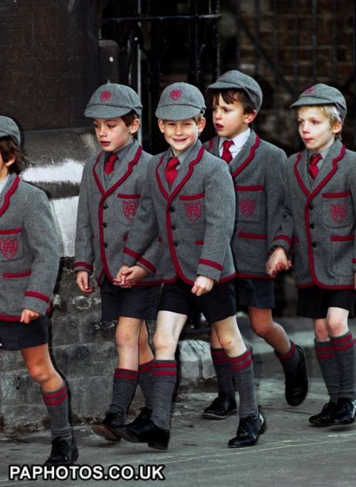 so many favorites! Prince Harry and Prince Harry wearing his primary school uniform! eee!!