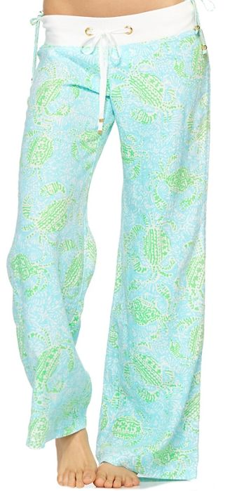 Lilly Pulitzer Linen Beach Pant In Get Crackin