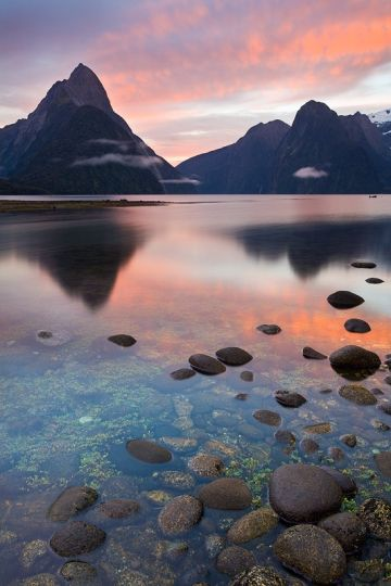 Morning Milford Sound, Fiordland, New Zealand.  Before I die I am going to New Zealand.  End Of Story!