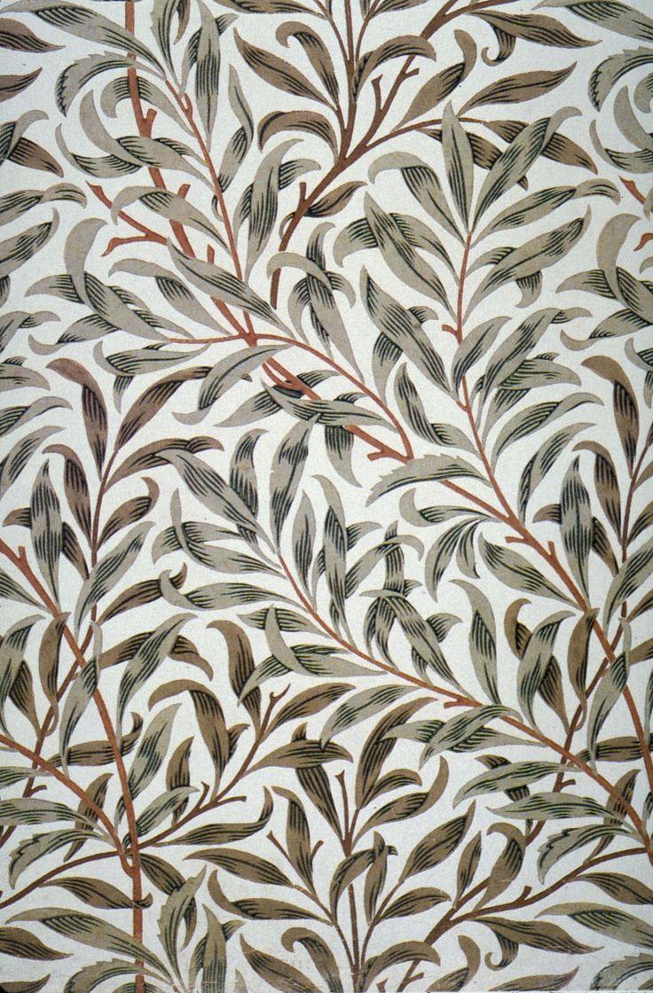 itsdontheman:Vintage Ephemera: Willow Bough wallpaper designed by William Morris, repurposed as fabric design c. 1895