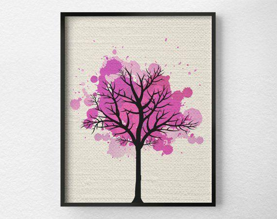 Arbre Art mural, décor à la maison moderne, Fine Art Print, impression d'Art moderne, Nature Art Print, illustration de l'arbre,   – Products