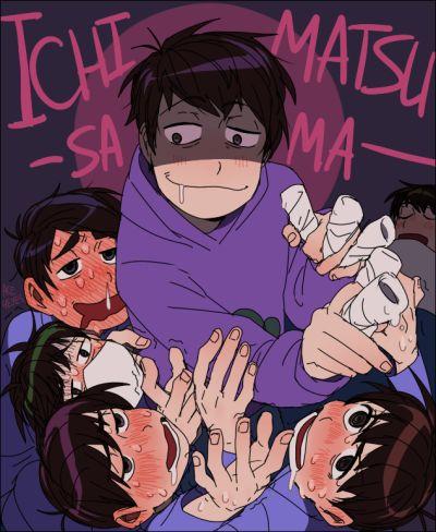 All fanart of this scene looks bad. Osomatsu-san- Osomatsu, Karamatsu, Choromatsu, Ichimatsu, Jyushimatsu, and Todomatsu #Anime「♡」