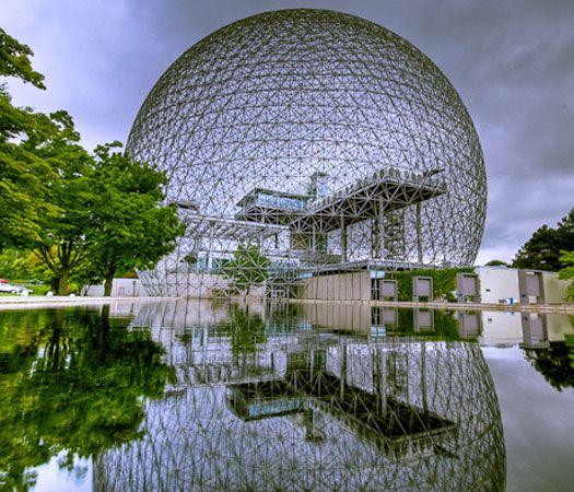 On Ste-Hélène Island, Montréal. This was the USA pavillion in Expo 67 40 Bizarre and Incredible Building Design – Part 2