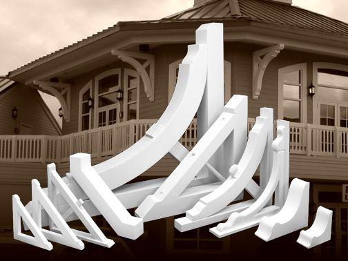 Pvc architectural details pvc vinyl millwork - Exterior structural wood brackets ...