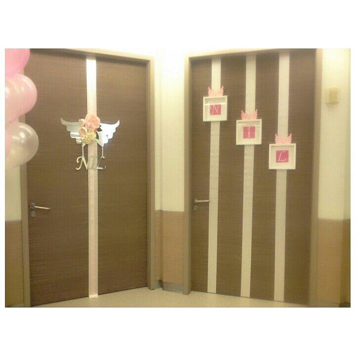 Hastane odası kapı süslemesi