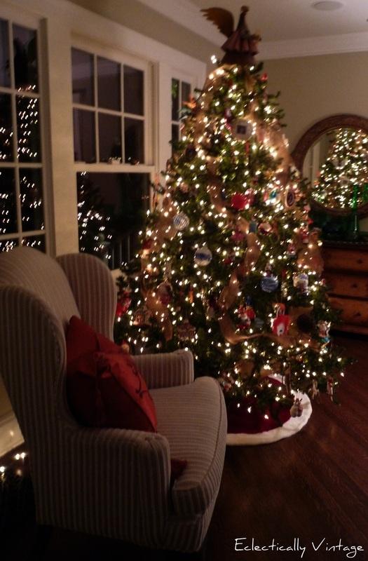 Burlap Christmas Tree Garland