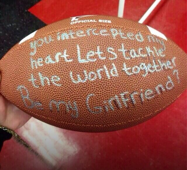 Cutest thing for a football played to do