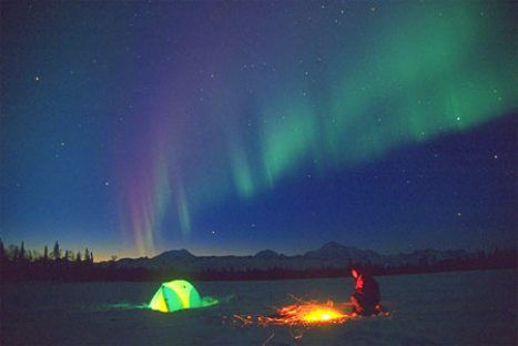 to camp under the northern lights..