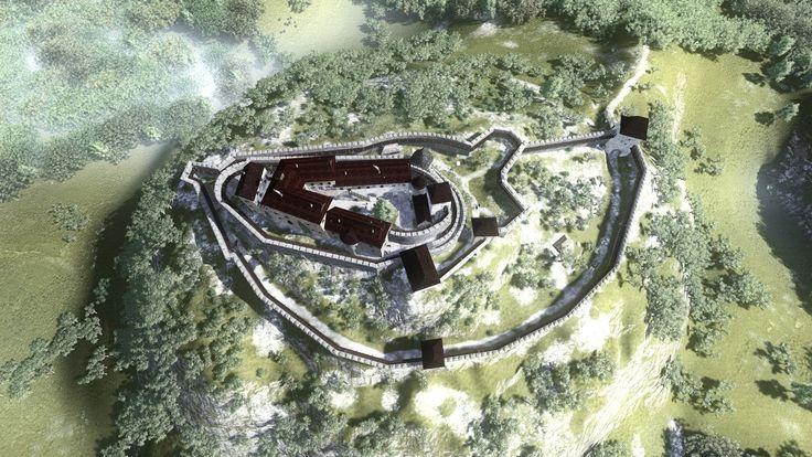 Déva vára, Cetatea Devei  (látványrajzok)