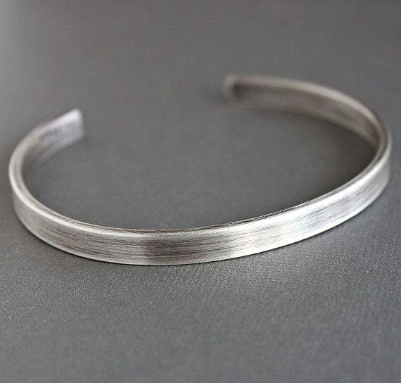 Bracelet en argent de mens, Mens Cuff Bracelet, bracelet argent, Sterling