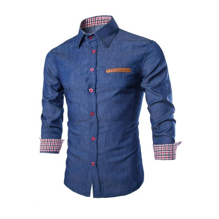Luxury Men Casual Stylish Slim Fit Long Sleeve Casual Formal Dress Shirts