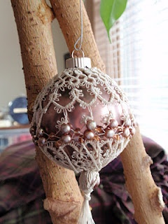 Needle tatted Christmas Ornament