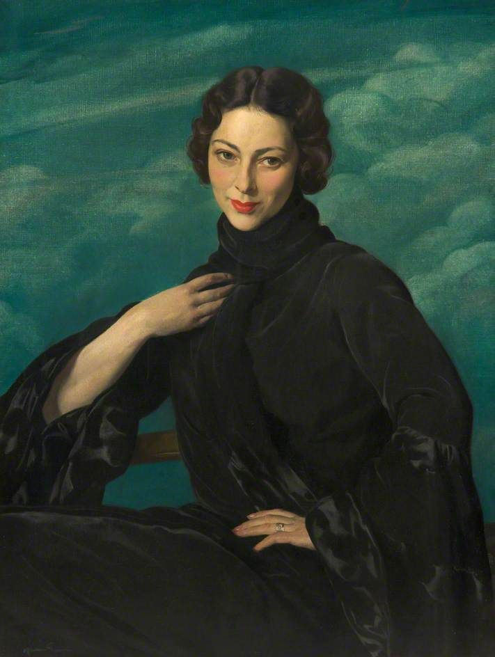 Pauline, Wife of the Artist. 1930 by Sir James Gunn R.A. (1893-1964) He served with The Artists Rifles in WWI and was commissioned into The Scottish Rifles (The Cameronians) on 1st March 1917.