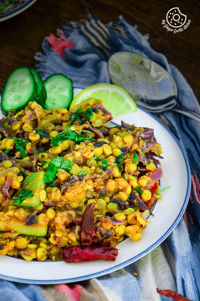 Red Cabbage Zucchini Chana Dal! #vegan #glutenfree #healthy #curry