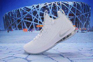 b9794dda038 Nike LeBron 15 Low White Metallic Silver AO1756 100 Men s Basketball Shoes  James Shoes