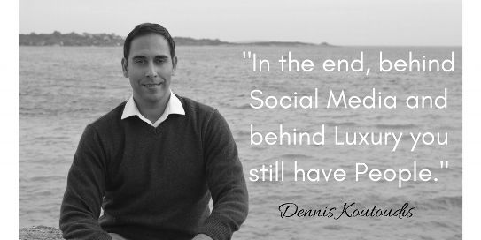 Behind Social Media and behind Luxury you still have People