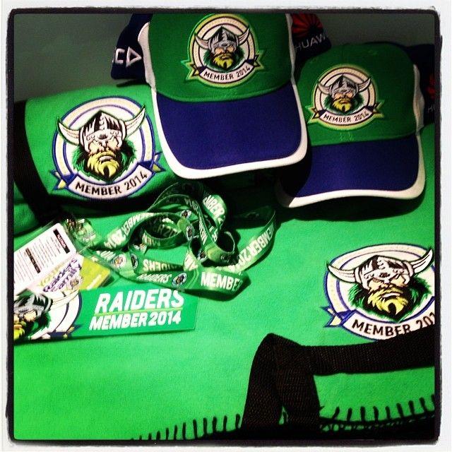 2014 Canberra Raiders membership packs.