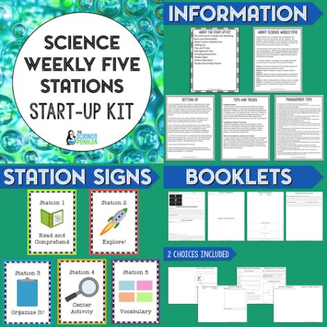 Free Science Stations Start-Up Kit (The Original Science Weekly Five from The Science Penguin)