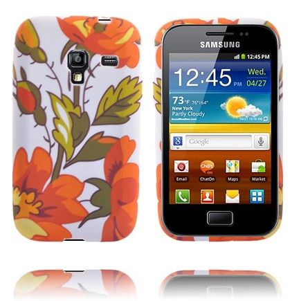 Symphony (Orange Blomster) Samsung Galaxy Ace Plus Cover