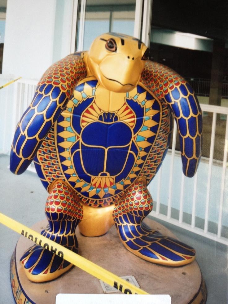 "Tampa Bay, Florida - Tour of Turtles 2000 - ""King Tut's Treasure Turtle"" - 98 larger-than-life fiberglass Loggerhead sea turtles"