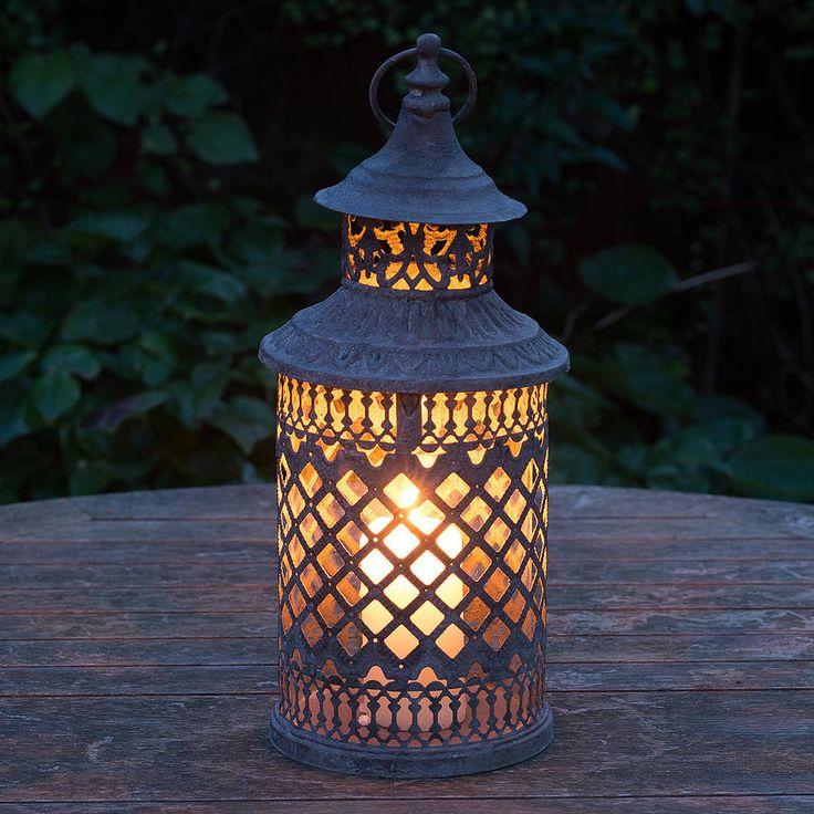marrakesh lattice candle lantern by the flower studio | notonthehighstreet.com