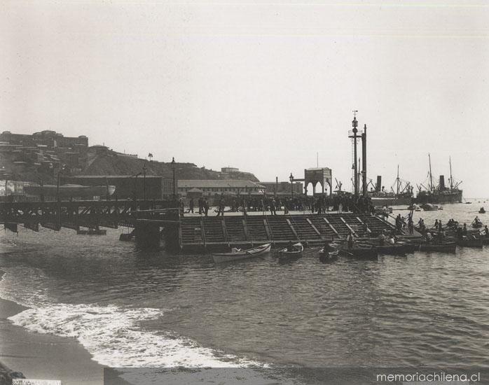 Muelle Prat, ca. 1900