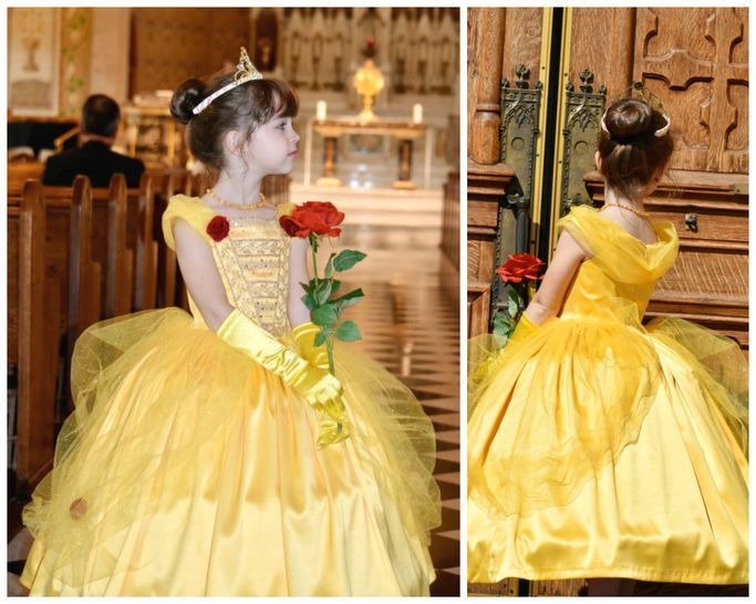 Belle Princesses Kostum The Beauty And The Beast Sewing Pattern Belle Beast Kostum Prinzessinnen Schni In 2020 Princess Dress Princess Belle Dress Dresses