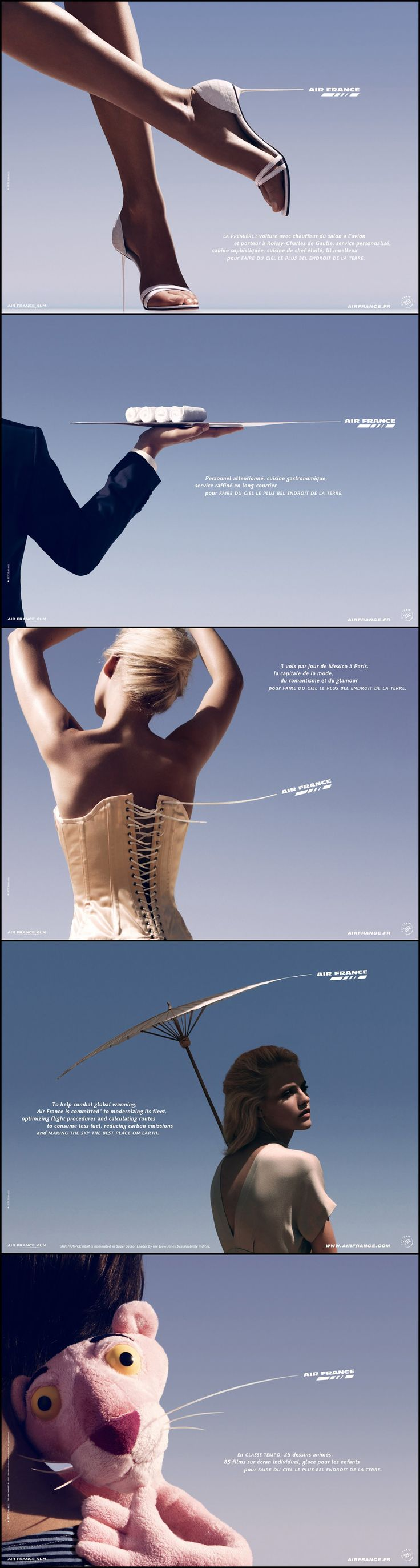 Sweet ad series from Air France. Classy and classic. Pinned by Ignite Design & Advertising, Inc. www.clickandcombust.com