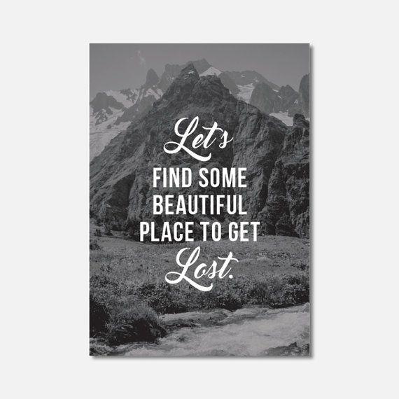 MINI ART  Mountain Travel Inspiration Wall by Hatchesandmatches