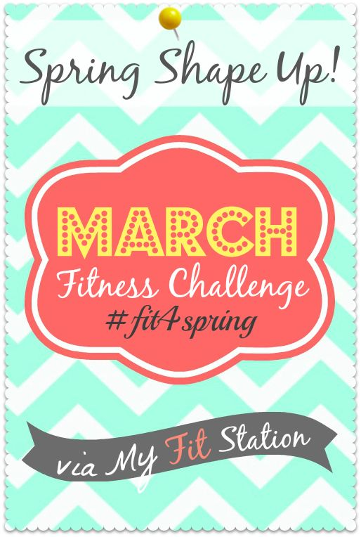 Join the: Spring Shape Up ((March Fitness Challenge)) via www.myfitstation.com #fitness