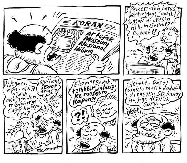 Artefak Museum Hilang.. #KomikJakarta @mice_cartoon