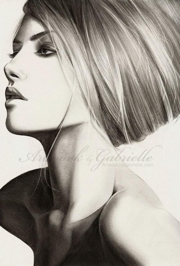 Gabrielle,US based young artist / charcoal, graphite and pastel, acrylic, marker and digital art