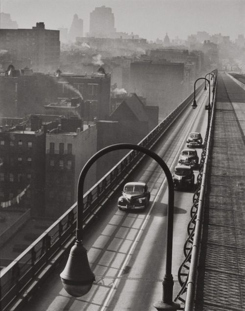Harold Roth, Williamsburg Bridge, 1947 Harolds photographs give the viewer a different perspective of New York.  He captures beautiful landscapes, in a way most people do not see. The varies subjects in his photos draw you in to look more, you can almost feel that you are in the same location as the photo.