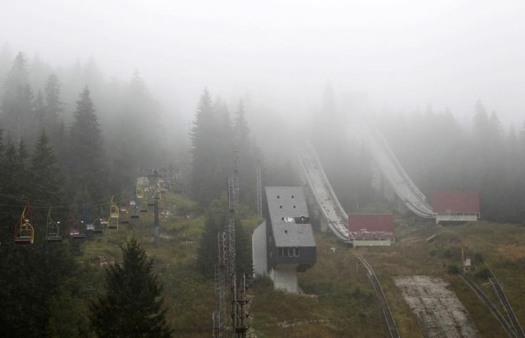 The Disused Ski Jump | 24 Spooky Photos Of Sarajevo's Abandoned Olympic Venues