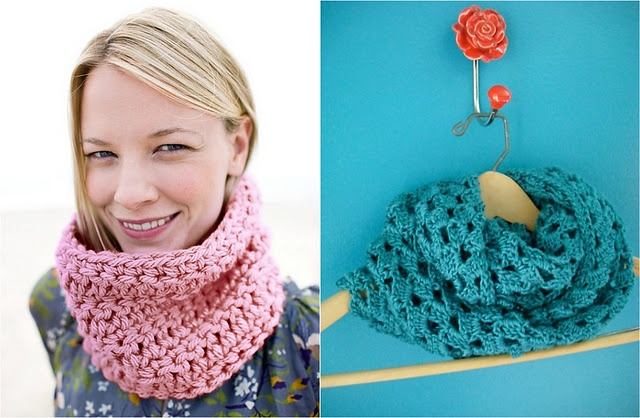 Crocheted cowls!