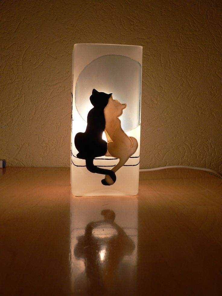 glass painting - Cats = Üvegfestés - Cicák