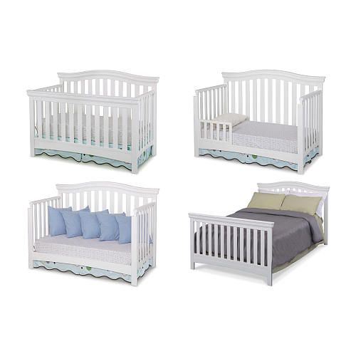 Delta Bennington Bell 4 In 1 Convertible Crib White