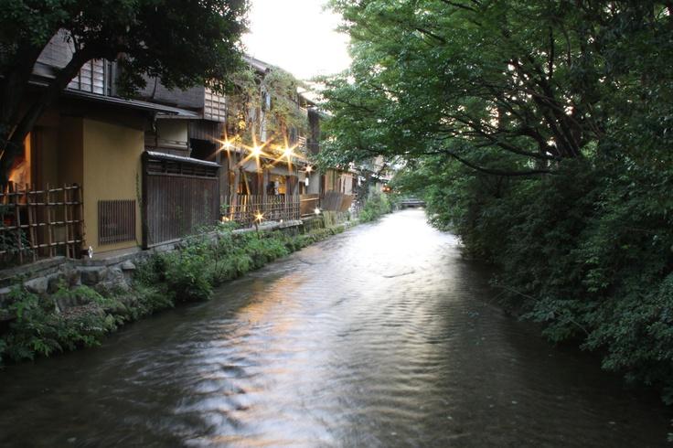 京都・白川。 京都 kyoto