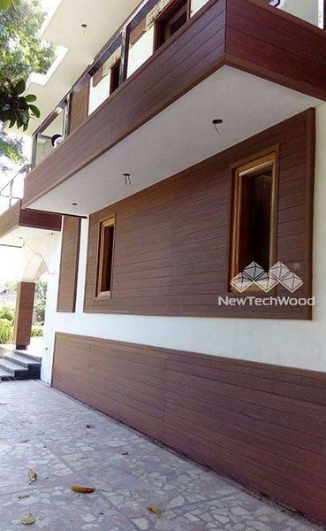 NewTechWood Redwood cladding board for house
