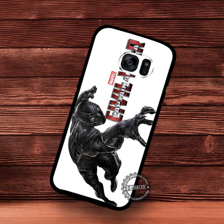 Black Panther Marvel Civil War Captain Amerika Hero Movie - Samsung Galaxy S7 S6 S5 Note 7 Cases & Covers