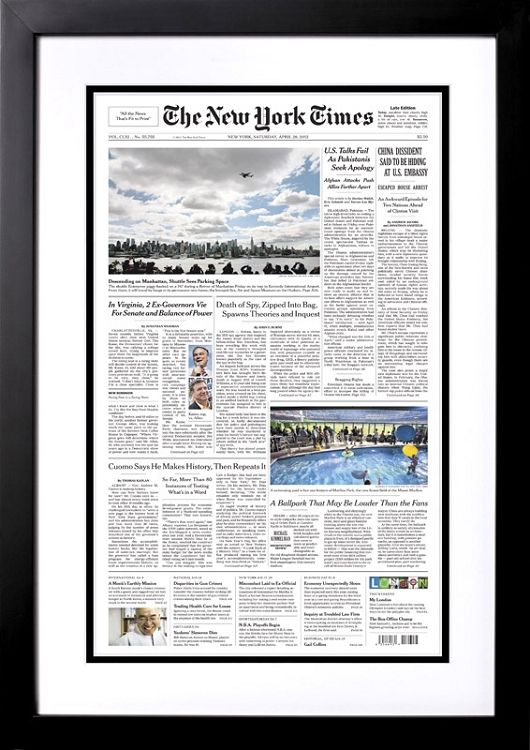 Cute Valentines Day Idea Front Page New York Times Reprint From