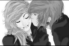 anime emo couples in love - Google Search