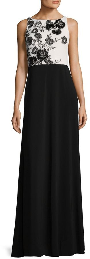 Carmen Marc Valvo Women's Lace Embroidered Gown Visit our site for Carmen Marc Valvo Sequined Lace Gown