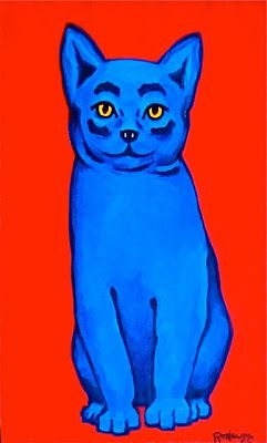 Musings of an Artist's Wife: George Rodrigue's Blue Cat