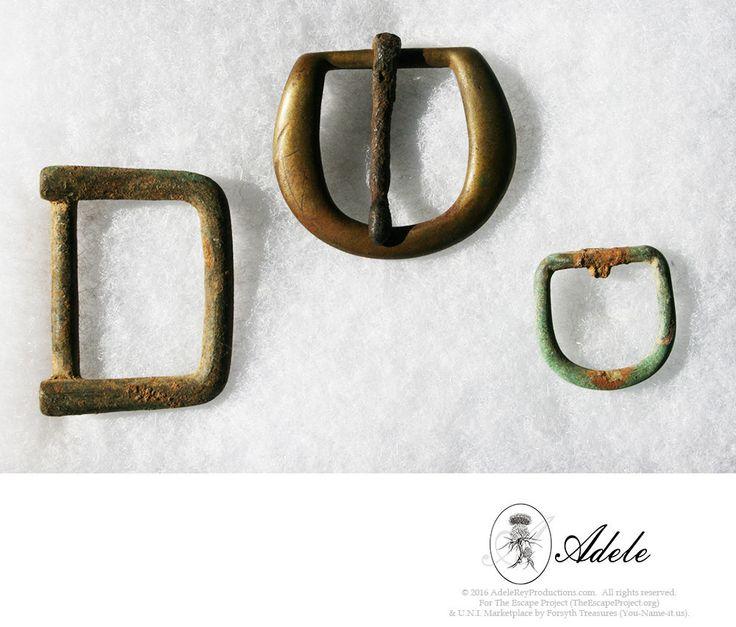 Civil War Relics - Three (3) Brass Buckles: Spur Strap, & (2) Harness